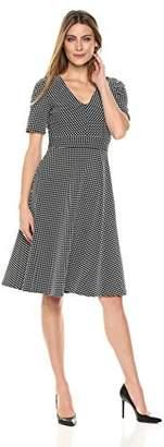 Lark & Ro Women's V-Neck A-Line Dress