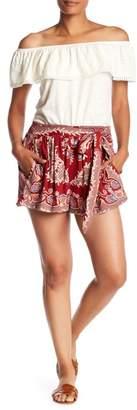 Angie Printed Waist Tie Shorts