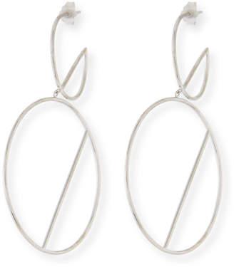 Lana 14k Double-Wire Eclipse Hoop Earrings