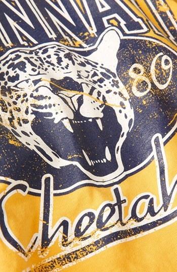 Topshop 'College Cheetah' Crop Tee (Petite)