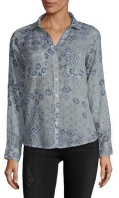 Raga Secret Cotton Button-Down Shirt