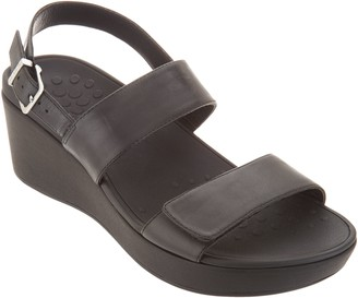 Vionic Leather Ankle Strap Wedges Lovell