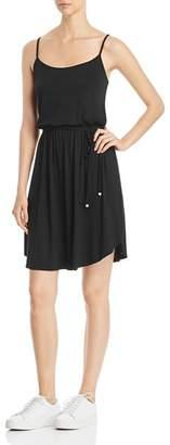 Three Dots Tie-Waist Jersey Dress