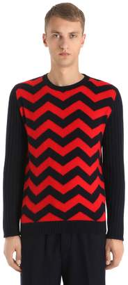 Chevron Wool Knit Sweater