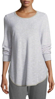 Eileen Fisher Plus Size Linen-Blend Slub Top