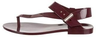Jason Wu Melissa Jean + Rubber Thong Sandals
