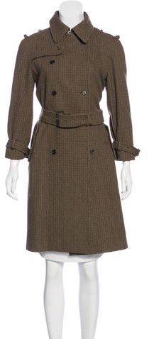 Miu MiuMiu Miu Wool Herringbone Coat