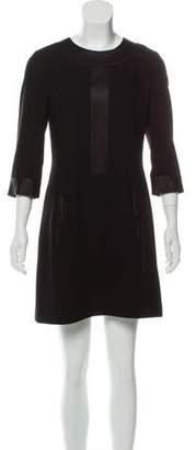 Rachel Zoe Satin-Trim Mini Dress