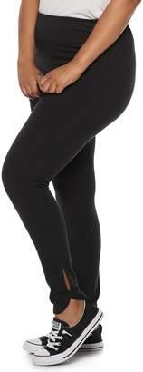 fe168eea68b So Juniors  Plus Size SO Side Slit Yoga Leggings