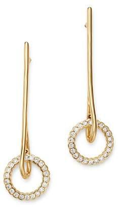 Bloomingdale's Diamond Diamond Circle & Bar Drop Earrings in 14K Yellow Gold, 0.40 ct. t.w. - 100% Exclusive