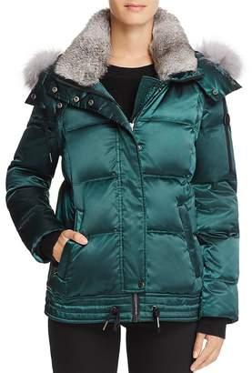 Andrew Marc Lillie Rabbit & Fox Fur Trim Down Coat - 100% Exclusive