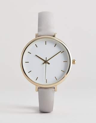 Asos Design DESIGN watch in gray