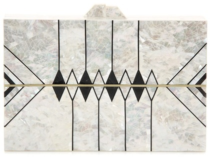 Nathalie Trad Zero II mother-of-pearl clutch
