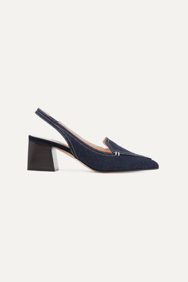 1b8cadbf310 Nicholas Kirkwood Beya Denim Slingback Pumps - Dark denim