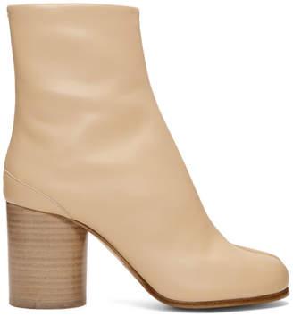 Maison Margiela Pink Leather Tabi Boots