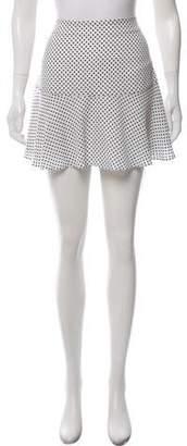 Joseph Silk Polka Dot Skirt