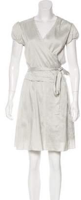 Calypso Knee-Length Wrap Dress