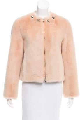 Givenchy Stud-Embellished Mink Jacket