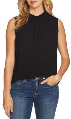 Cynthia Steffe CeCe by Collared Pleat Front Blouse