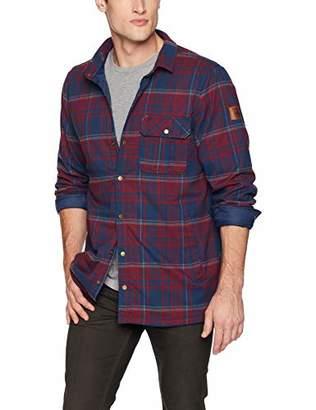 Quiksilver Men's Wildcard Plaid Reversible Flannel Jacket