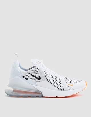 Nike 270 Shoe in White/Black/Total Orange