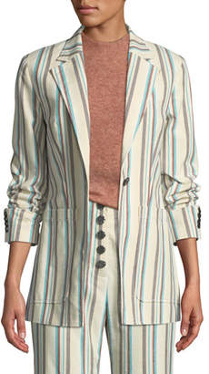 3.1 Phillip Lim Oversized Striped Cotton Blazer