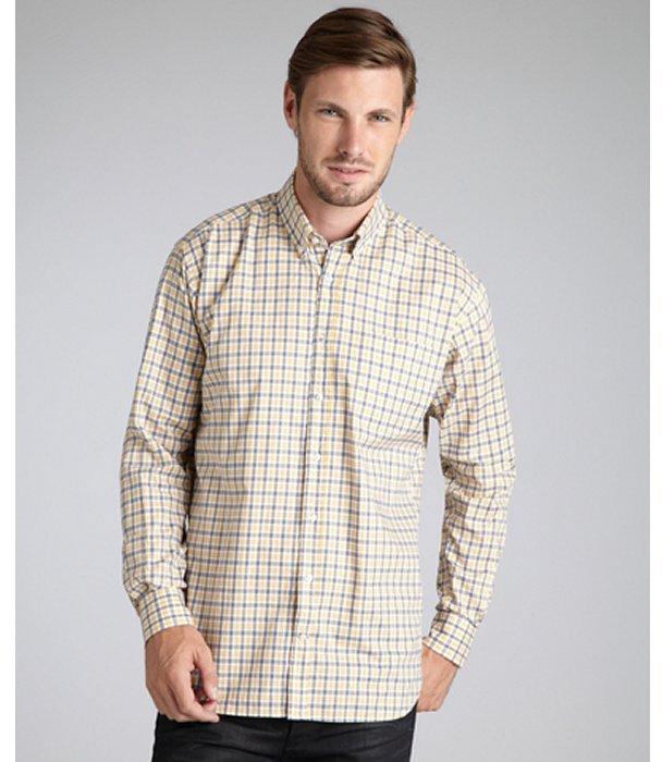Alara yellow plaid cotton button down shirt