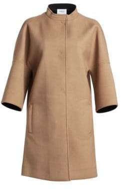 Akris Punto Three-Quarter Sleeve Cocoon Coat