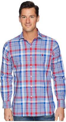 Polo Ralph Lauren Button Down Pony Player Spread Estate Poplin Long Sleeve Sport Shirt in Classic Fit Men's Clothing