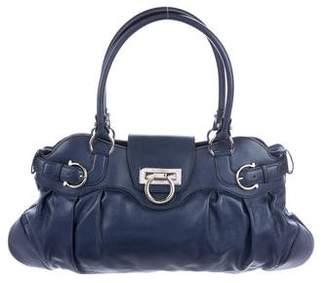 Salvatore Ferragamo Metallic Marisa Shoulder Bag