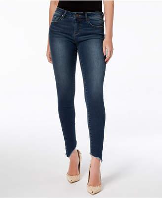 Articles of Society Sammy Frayed Asymmetrical Skinny Jeans