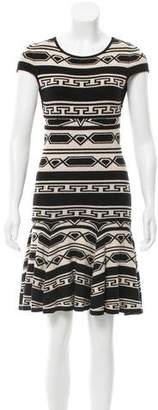 Alice + Olivia Geometric Patterned Flare Dress