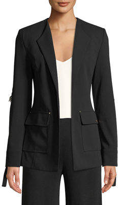 Iconic American Designer Tie-Sleeve Suiting Jacket