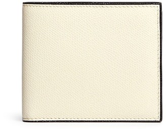Valextra Leather bifold wallet - White