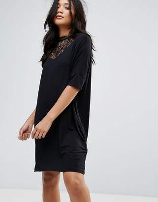 Y.A.S Busy Lace High Neck Shift Dress
