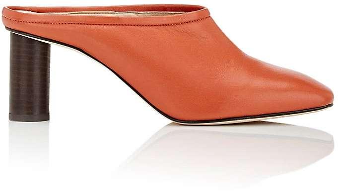 Helmut LangHelmut Lang Women's Leather Square-Toe Mules-Dark orange, Red