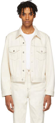 Helmut Lang Beige Denim Masc Trucker Jacket
