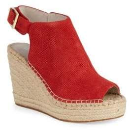 Kenneth Cole New York Ory Perforated Suede Wedge Espadrilles