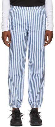 Wonders White and Blue Stripe Camp Track Pants