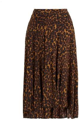 Masscob Leopard Printed Midi Skirt - Womens - Leopard