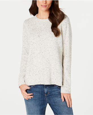 Eileen Fisher Recycled Cotton Crew-Neck Sweater