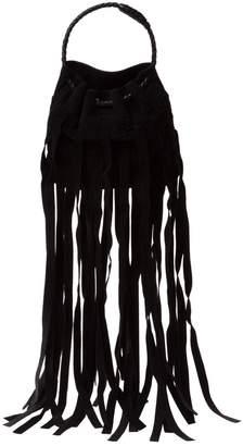 Bottega Veneta Black Suede Clutch Bag