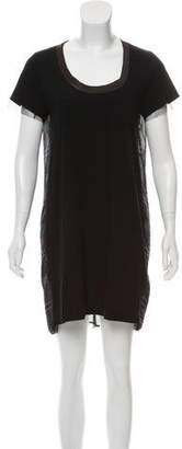 Sacai Luck Short Sleeve Scoop Neck Dress