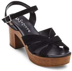 Matisse Adella Suede and Wood Sandals