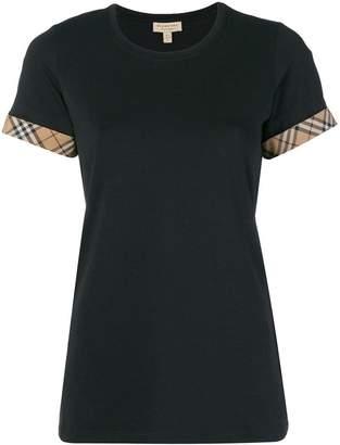 Burberry (バーバリー) - Burberry チェックパネル Tシャツ