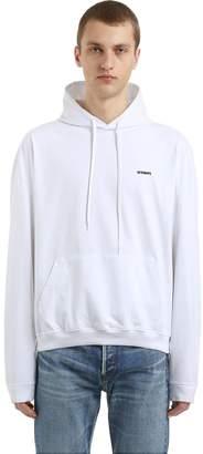 Vetements Logo Detail Basic Hooded Sweatshirt
