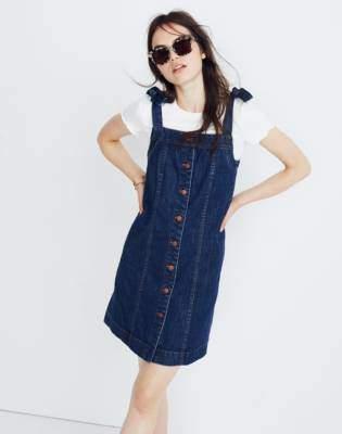 Madewell Denim Tie-Strap Mini Dress