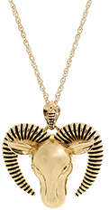Belle Noel by Kim Kardashian Rams Head Necklace Gold