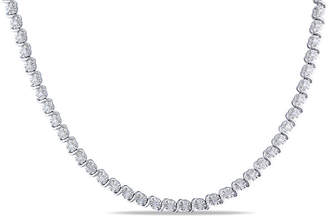 FINE JEWELRY Womens 1/2 CT. T.W. Genuine White Diamond Sterling Silver Tennis Necklaces