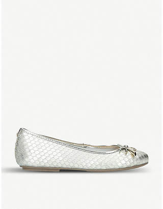 Carvela Magic metallic leather ballet flats